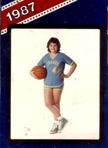 This is me, the 6th grade un-power forward.  I loved those shoes, too.