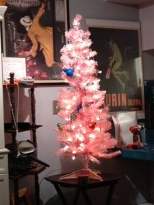 This is the California Tree.  So far I've decorated it with Mickey Mouse bulbs, blue gems, and peacocks.