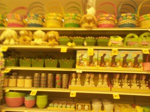 Easter displays at the grocery store mock me!