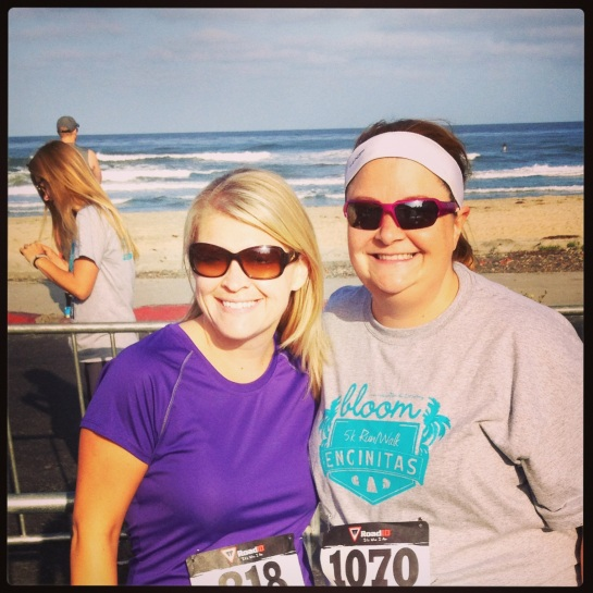 Me and my friend Michele at the Encinitas 5k