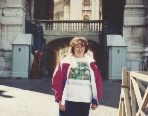 Here I am at 15, going on 16 in Vatican City.