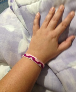 Maybe this is lame, but I'm wearing this bracelet the for the Whole 30.  It's a good reminder to stay on track!