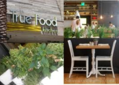 True Food Kitchen has an amazing menu, atmosphere, and their bathrooms are so elegant.